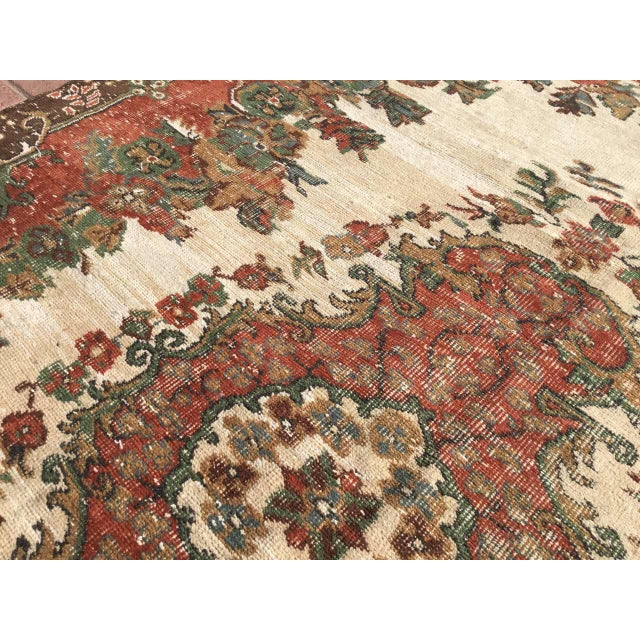 Vintage Hand Knotted Turkish Rug For Sale In Raleigh - Image 6 of 11