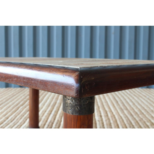Brown French Cocktail Table With Roger Capron Tiles, 1960s For Sale - Image 8 of 10