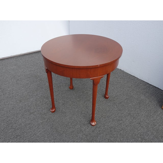 Vintage French Country Side Table Mahogany Color by Baker Furniture Co. For Sale - Image 11 of 13