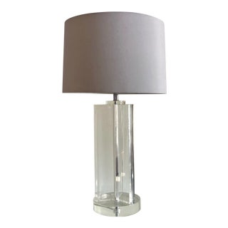 1970s Ritts Co. Trefoil Lucite Table Lamp For Sale