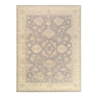 Pasargad Gray Fine Hand Knotted Oushak Rug- 9' X 13' For Sale