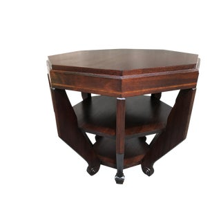 French Art Deco Octagonal Table For Sale
