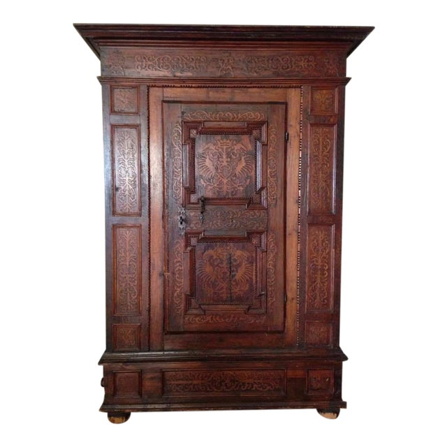 19th C. Gothic Renaissance Style Ornate Carved Cabinet - Image 1 of 4