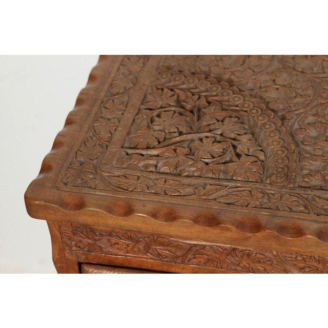 Asian Finely Hand-Carved Sideboard From Java, Indonesia For Sale In Los Angeles - Image 6 of 10