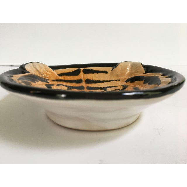 Mid 20th Century Vintage Mid-Century Italian Pottery Tiger Bowl For Sale - Image 5 of 9