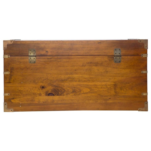 Mahogany and Brass Campaign Chest - Image 5 of 7