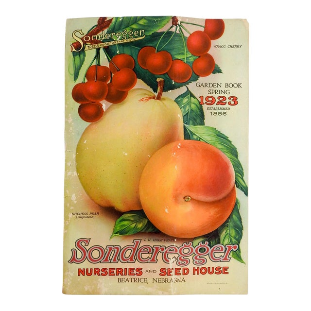 1923 Seed Nursery Catalog Fruit, Flowers, Veggies Spring Garden Book For Sale
