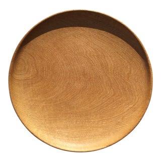 Vintage Handmade Oak Platter For Sale