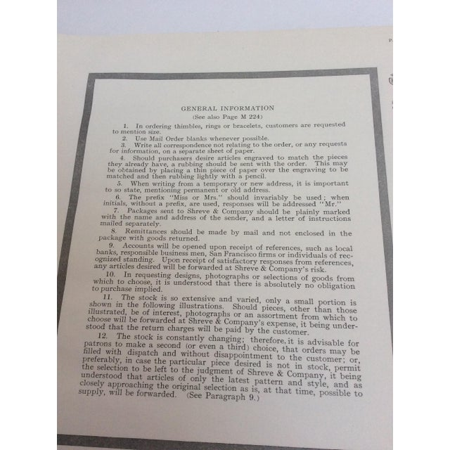 Paper Shreve & Company Bronze Plaque Catalog Book For Sale - Image 7 of 11