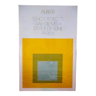 1973 Josef Albers Framed Homage to the Square Poster For Sale