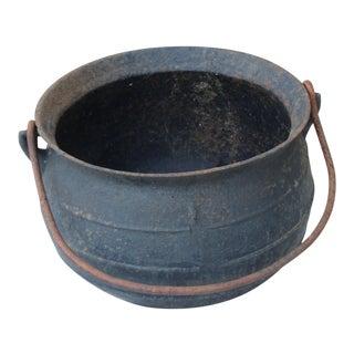 Vintage Cast Iron Cauldron For Sale