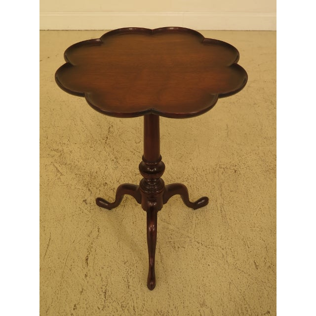 Brown Kittinger Clove Top Mahogany Tilt Top Table For Sale - Image 8 of 10