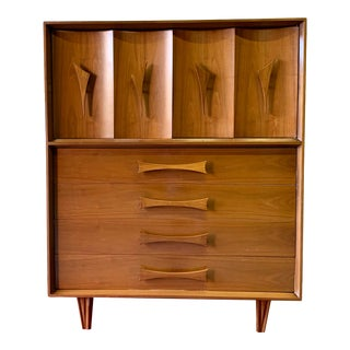 Funky Mid Century Modern Kagan Style Dresser / Highboy For Sale