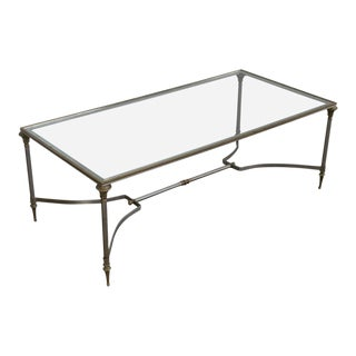Iron and Brass Coffee Table in the Style of Maison Jansen