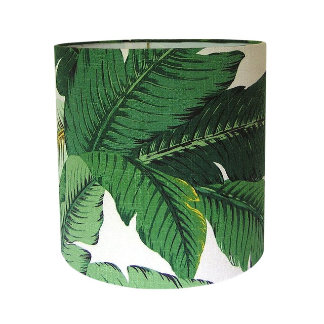 Swaying Palms Green Drum Lamp Shade For Sale