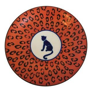 Blue & Orange Decorative Plate