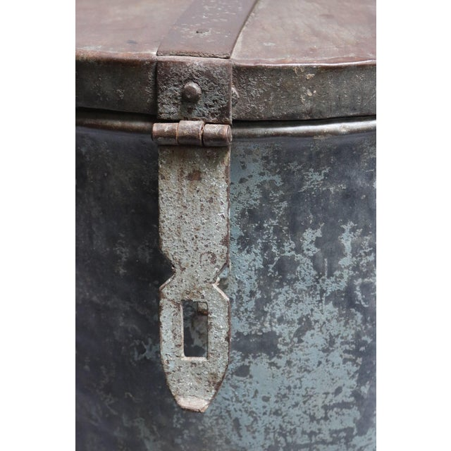 1920s Rustic Metal Container For Sale - Image 4 of 7