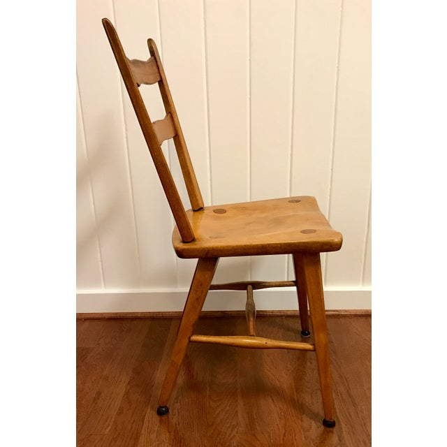Cushman of Vermont Mid Century Cushman Birch Solid Wood Chair For Sale - Image 4 of 10