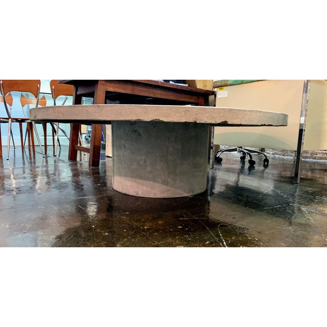 Contemporary Indoor / Outdoor Concrete Coffee Table For Sale - Image 3 of 4