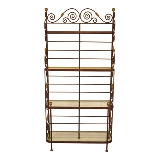 Iron & Brass Bakers Rack