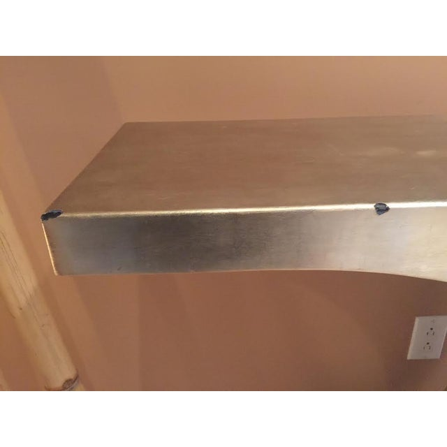 Silver Lacquered Wood & Nickel Console Table - Image 9 of 10