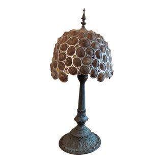 Limpet Table Lamp With Hand-Crafted Metal For Sale