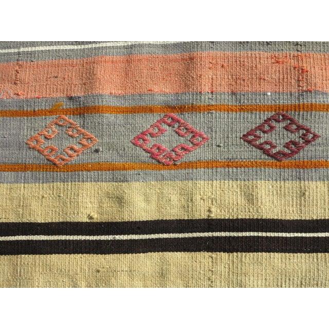 """Vintage Turkish Kilim Runner-2'x10'4"""" For Sale - Image 10 of 13"""