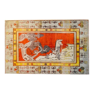 Gorgeous Early 20th Century Pictorial Khotan Rug For Sale