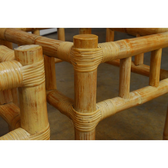 Asian Ralph Lauren Bamboo Side Tables - A Pair For Sale - Image 3 of 4