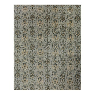 1990s Ikat Area Rug - 12′ × 15′4″ For Sale