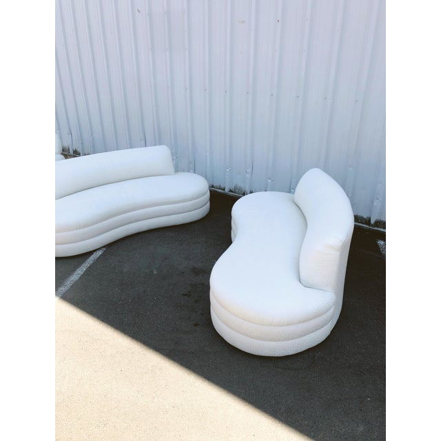 Curved Couches After Vladimir Kagan - a Pair For Sale In Portland, OR - Image 6 of 13
