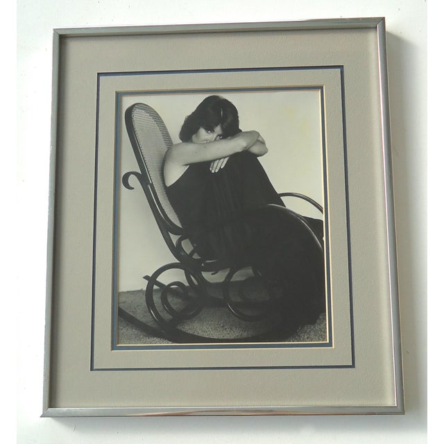 """""""Woman in Bentwood Rocker"""" Vintage Photograph - Image 2 of 3"""