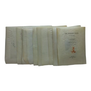 """Late 19th Century Antique """"The Modern Cupid"""" M. Mounet-Sully Limited Edition Parchment Prints - Set of 16 For Sale"""