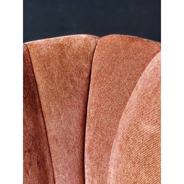 Burnt Orange Rattan 4 Piece Modular Sofa For Sale - Image 8 of 13