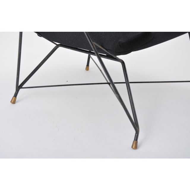 Black Italian Cosmos Lounge Chair by Augusto Bozzi for Saporiti For Sale - Image 6 of 11