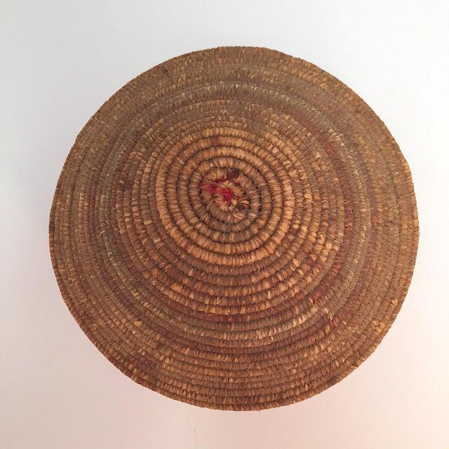 Northwest Coast Salish Lidded Coiled Basket For Sale - Image 9 of 13