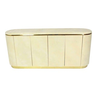 Mid-Century Modern, Drum Shape Long Credenza Server in the Springer Style For Sale