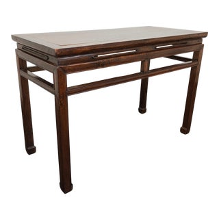 Antique Late 19th Century Chinese Hardwood Console / Sofa Table For Sale