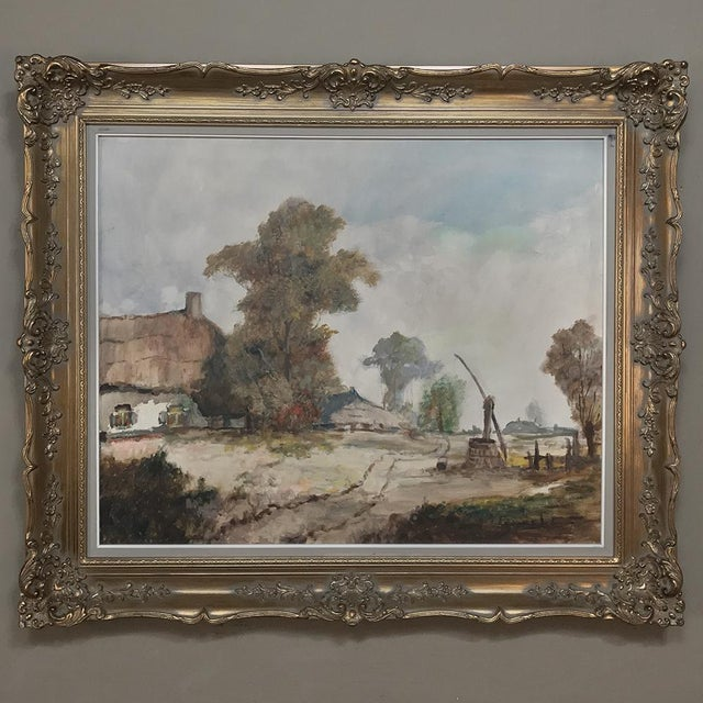 Antique Framed Oil Painting on Canvas by Pauwels For Sale - Image 13 of 13