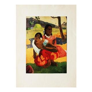"1940s Paul Gauguin, ""When Will You Marry?"" Original Parisian Lithograph For Sale"