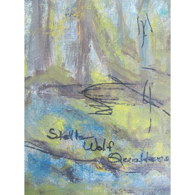 Vintage Impressionist Forest Painting For Sale - Image 6 of 7