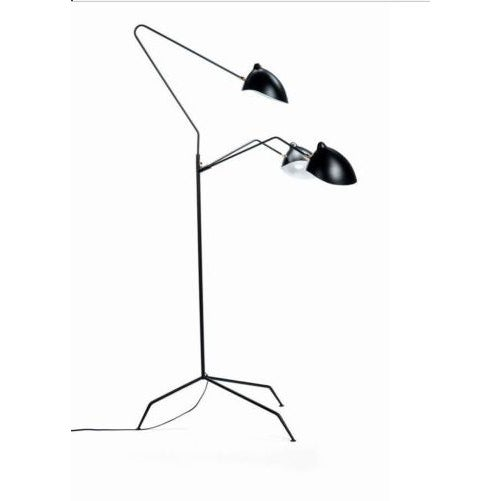 Mid-Century Modern Serge Mouille Reproduction Floor Lamp For Sale - Image 3 of 6
