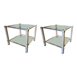 Pair of Pierre Vandel Side Tables For Sale