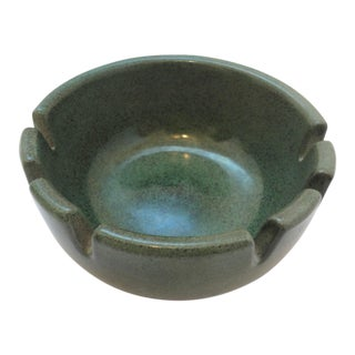 Mid-20th Century Boho Chic Heath Green Ceramic Ashtray