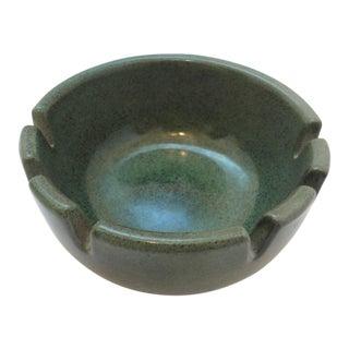 Small Heath Green Ceramic Ashtray