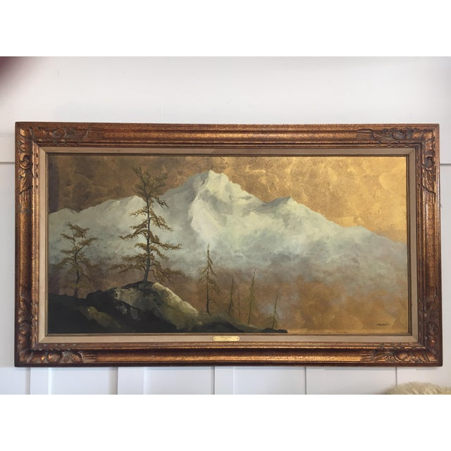 """Beautiful landscape painting by California artist Les Parisch. Titled """"Grand Tetons"""" it depicts that national park's..."""