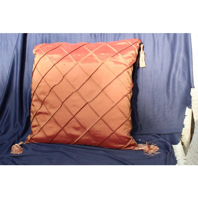 Contemporary Late 20th C. Down Argyle Pattern Pillow For Sale - Image 3 of 4