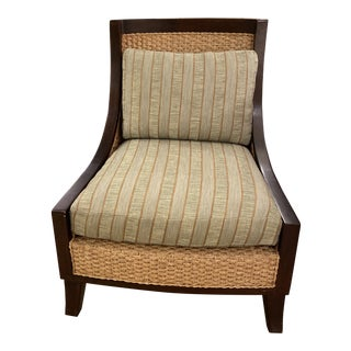 Late 20th Century Vintage Wicker Chair For Sale