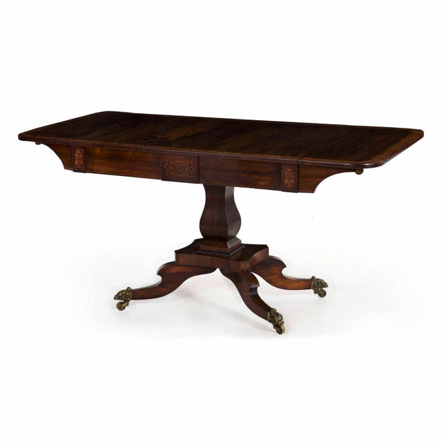 19th Century English Regency Antique Sofa Table For Sale - Image 13 of 13
