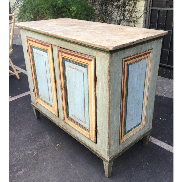 Superb Antique Paint Decorated Rustic Sideboard - Image 2 of 8